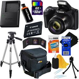 Canon Powershot SX420 is 20 MP Wi-Fi Digital Camera with 42x Zoom (Black) Includes Canon NB-11LH Battery & Canon Charger + 9pc 32GB Deluxe Accessory Kit wHeroFiber Cloth