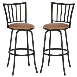 Set of 2 Swivel Modern Barstool Bistro Pub Chair