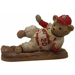 "AMERICAN NEEDLE St. Louis Cardinals Resin Figurine 8"" Cooperstown Bear 1967 Safe"