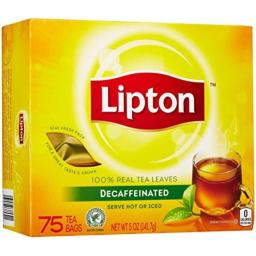 Lipton Black Tea Bags, Decaf, 72 ct