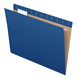 Pendaflex Recycled Hanging Folders, Letter Size, Navy, 1/5 Cut, 25/BX (81615EE)