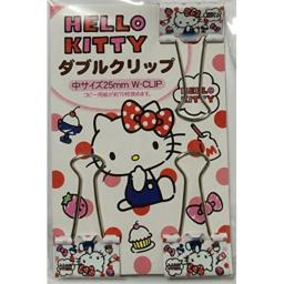 SANRIO Hello Kitty Double Paper Clip 3 pcs Set Pinch 2.5 cm Office Stationery