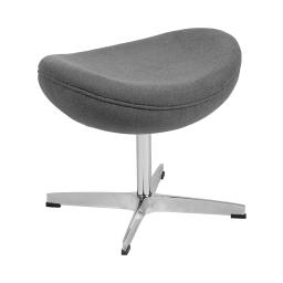 Flash Furniture Contemporary Living Room Gray Fabric Upholstered Saddle Wing Ottoman