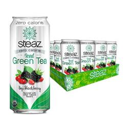 Steaz Zero Calorie Green Tea - Blackberry - Case of 12 - 16 Fl oz.