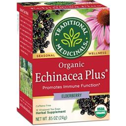 Traditional Medicinals Organic Echinacea Elder Herbal Tea - 16 Tea Bags