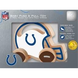 Indianapolis Colts Push and Pull Wood Toy