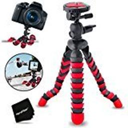 12 Inch Flexible Tripod With Quick Release Plate For Nikon Coolpix S5300 S5200 S5100 P100 P90 P80 P530 P520 P510 P500 P5100 P5000 P6000 S10 Digital Cameras