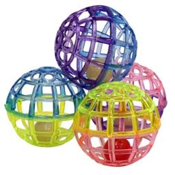 SPOT Ethical Products 773073 4-Pack Lattice Balls Cat Toy