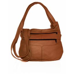 AFONiE Casual Messenger CrossBody Leather Shoulder handbag