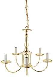 BOSTON HARBOR RF01 FIXTURE CHAND 5LT CAND CLR PB Finish=Polished Brass