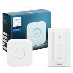Philips Hue Smart Hub and Smart Dimmer Switch with Remote Bundle (Compatible with Amazon Alexa, Apple HomeKit, and Google Assistant)