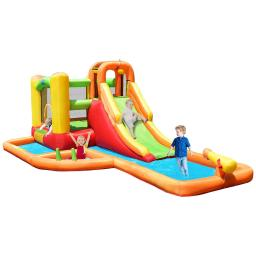 Inflatable Water Park Bounce House with 780W Blower
