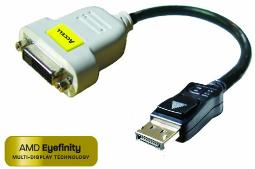Accell DisplayPort to DVI-D Passive Adapter - Resolutions up to 1920x1200 (WUXGA)