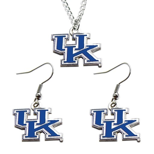 NCAA Kentucky Wildcats Necklace and Dangle Earring Charm Set