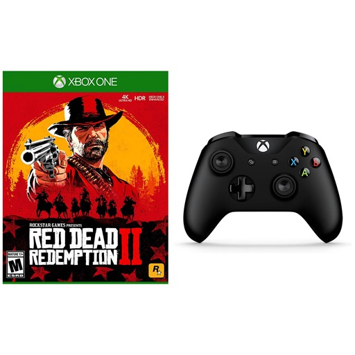 Xbox One Red Dead Redemption 2 and Wireless Controller with Bluetooth -  Black
