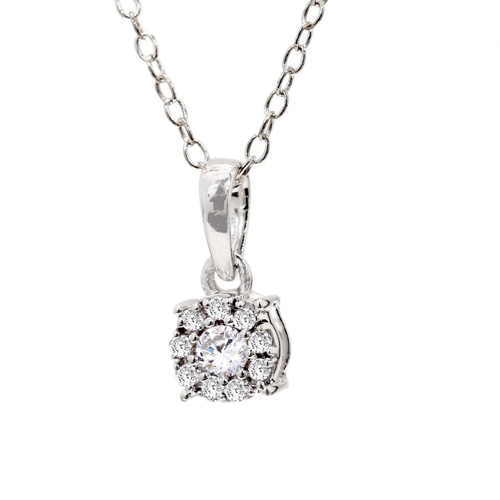 0.13 Ct Natural Diamond Beautiful Pendant in 10KT White Gold for Women TAP14950_W_10KT