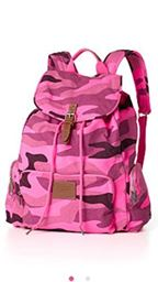 Victoria's Secret Pink School Backpack Book Bag Tote Pink Camo