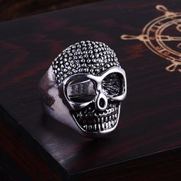 Punk Vintage Trend Men's Ring Gothic Men Skull Flower Biker Zinc Alloy Ring - 9, sa969