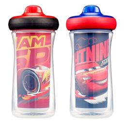 The First Years Insulated Sippy Cups, Disney/Pixar Cars, 9 Ounce (Pack of 2)