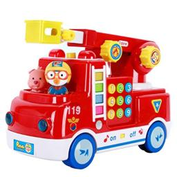 JISAM TRADE Pororo Fire Truck Rescue Play Toy Car with Melody Sound and Toy Sanitizer 30ml