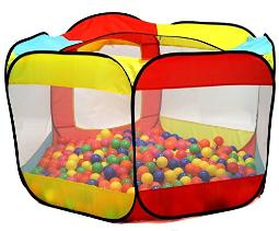 Kiddey Ball Pit Play Tent For Kids 6Sided Ball Pit For Kids Toddlers And Baby Fill With Plastic Balls (Balls Not Included) Or Use As An Indoor Outdoor Play Tent