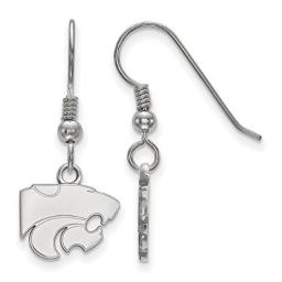 Kansas State Extra Small (3/8 Inch) Dangle Earrings Wire (Sterling Silver)