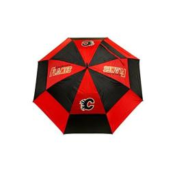 """Team Golf NHL Calgary Flames 62"""" Golf Umbrella with Protective Sheath, Double Canopy Wind Protection Design, Auto Open Button"""