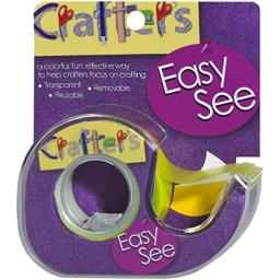 Lee Products Crafter's Easy See Removable Craft Tape, 0.5-Inch x 720-Inch, Yellow