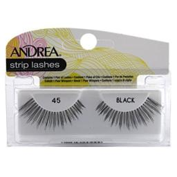 Andrea Lashes Strip Style 45 Black (2 Pack)