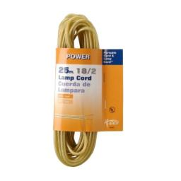 Coleman Cable 9420-89-19 16/2 25-Foot Lamp Cord, Gold