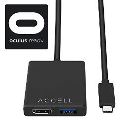 Accell USB-C VR Adapter - USB-C to HDMI & USB Compatible with Oculus Rift, HTC Vive, and Windows Mixed Reality Headsets including Samsung Odyssey+ Dell Visor Lenovo Explorer HP Acer & Asus WMR