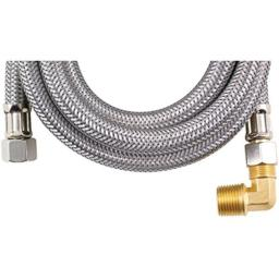 MK460B Braided Stainless Steel Dishwasher Connectors with Elbow (60) Home & Garden Improvement