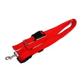 UltraRover Dog Kennel Nylon Strap Running Dog Leash (Red)