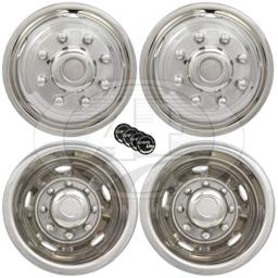 "A+ 17"" Stainless Steel Wheel Simulator Dually rim liner skin Fits: 2008-2016 GMC 3500 / 2013-2016 Dodge 3500 Dually Trucks"