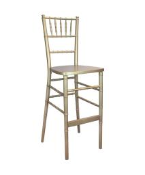 Offex Contemporary Stackable Traditional Gold Chiavari Bar Stools
