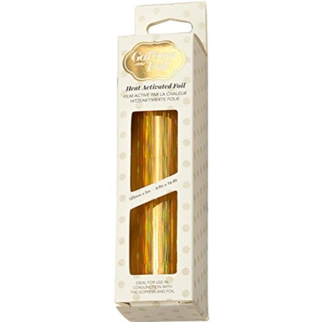 "Artdeco Creations CO726042 5"" x 16.4' Iridescent Pillars Couture Foil, Gold"