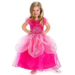 Little Adventures Deluxe Pink Princess Dress Up Costume (Small Age 1-3)