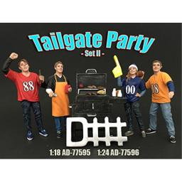 AMERICAN DIORAMA 1:24 TAILGATE PARTY SET II 4 FIGURES AD-77596