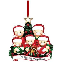 Christmas Decorations Hanging Ornaments 2020 Christmas Tree Ornament Decor Home Decor Doll Gifts Personalized Family Decor Kit (456 Person) (5