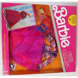 Barbie Private Collection Fashions - Red Purple & Gold (1990)