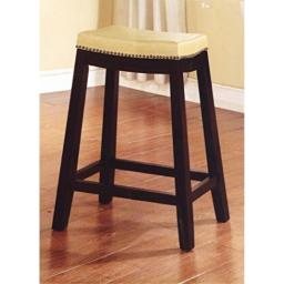 """Allure Saddle Upholstered Counter Stool, 24"""" H, Jute Color Seat"""