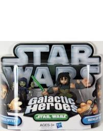 Star Wars 2010 Galactic Heroes Mini Figure 2Pack Quinlan Vos Bariss Offee