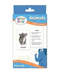 Brainy Baby Animals Flash cards Set Apes to Zebras Deluxe Edition