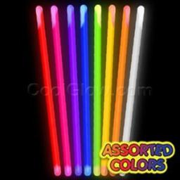 12 Pieces - 16 Inch glow Sticks in Bulk - glow in The Dark Stick for Wedding, concert and Party - Assorted colors