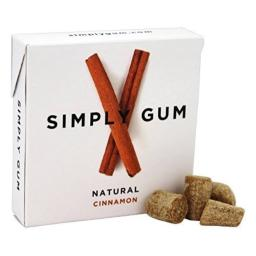 Simply Gum All Natural Gum - Cinnamon - Pack of 12 - 15 Count