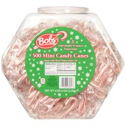Brach's Mini Peppermint Candy Canes 500 Count Jar, 76 ounces