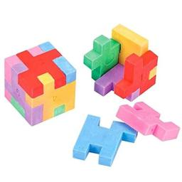 Rhode Island Novelty Puzzle Cube Erasers 12 Count