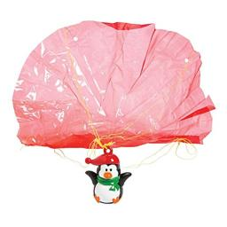 Fun Express - Penguin Paratrooper for Winter - Toys - Character Toys - Wind Ups & Paratroopers - Winter - 12 Pieces
