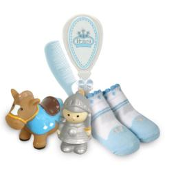 Stephan Baby Bath Squirters, Bootie Socks and Brush/Comb Gift Set, Little Prince