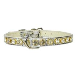 Mirage Pet Products No.16 Dog Collar, 10-Inch, Silver